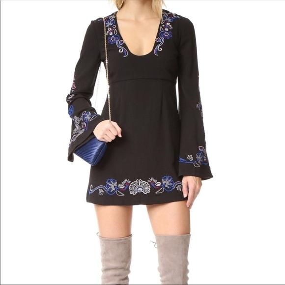 3a0ed1969d74 Free People Dresses | Holiday Folk Mini Dress Embroidered | Poshmark